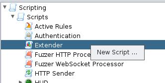 zap curlscript extender
