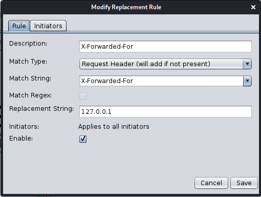 zap replacer rule