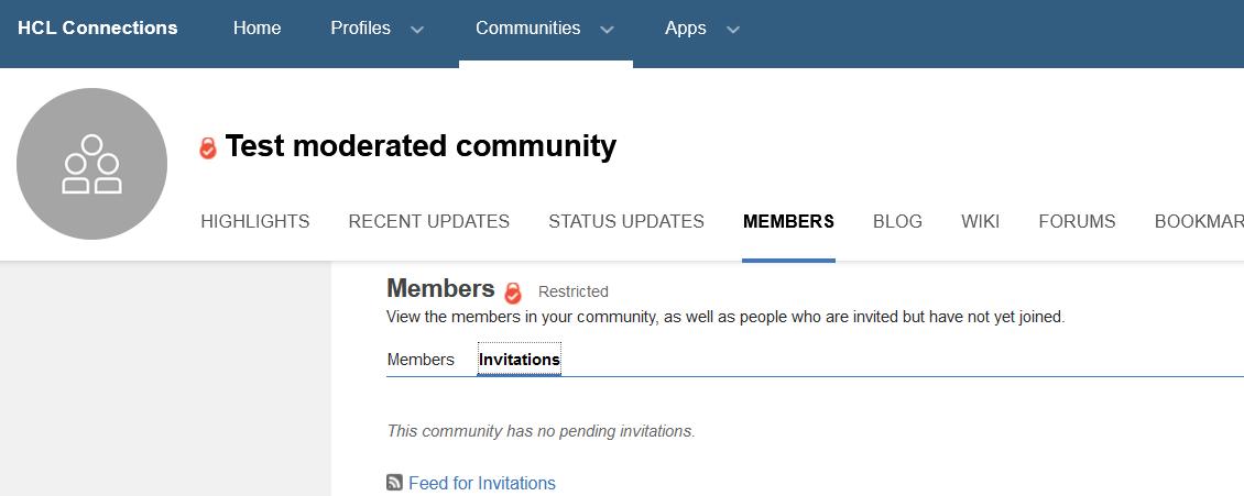 community members invitations